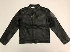 Affliction Black Premium Ghost Rider Leather Jacket Limited Ed 110OW208 Small