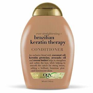 OGX Ever-Straightening + Brazillian Keratin Therapy Conditioner, 0.39 Fl Oz