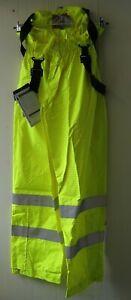 Portwest Bizflame Hi Vis Over Trousers Flame Retardant Anti Static Yellow Braces