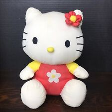 Vintage Hello Kitty Plush Doll Nylon 90's Sanrio Stuffed Animal 11""
