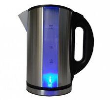 Edelstahl Design Wasserkocher 1,7 Liter Blaue LED Beleuchtung Cool Touch NEU