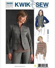 OOP Kwik Sew Pattern 3466 Miss Military Style Jacket Band Leader Jacket Sz XS-XL