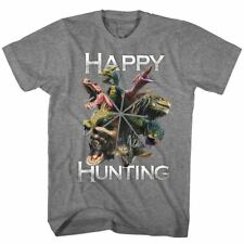 MONSTER HUNTER CapCom T-Shirt Adult Video Game Happy Hunting in Sizes SM - 5XL