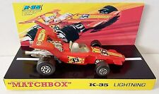 Lesney MATCHBOX Diecast SPEED KINGS K-35  LIGHTNING & Custom Display