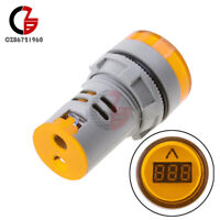 Mini Yellow 22mm LED AC60-500V Voltmeter Voltage Meter Indicator Pilot Light DIY