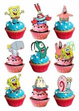 30 x spongebob stand up cake toppers edible