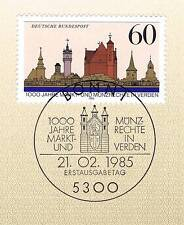 BRD 1985: Stadt Verden Nr 1240 mit sauberem Bonner Ersttagssonderstempel! 1A 156