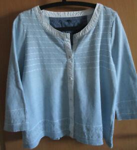 Blue Willi's Pullover / Jacke XL hellblau-weiss