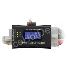 PC Computer LCD 20/24 Pin 4 PSU ATX BTX ITX SATA HD HDD Power Supply Tester