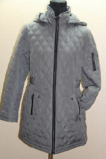 *NEW Weatherproof Smoke Gray Quilted Removable Hood Jacket L Large #758