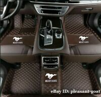 Fit Ford Mustang EcoBoost Premium Coupe Convertible Luxury Custom Car floor Mats