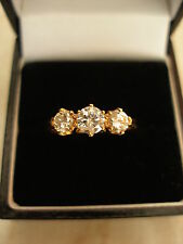 18 CARAT DIAMOND 3 STONE RING G COLOUR  BRAND NEW IN BOX MADE IN ENGLAND