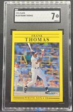 1991 Fleer Frank Thomas #138 Rookie Card Chicago White Sox SGC 7 NM