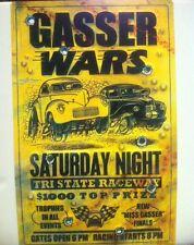 """""""Gasser Wars"""" New METAL """"Garage Decor"""" Sign"""