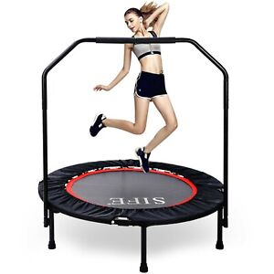 Mini Trampoline for Kids Adults,  Foldable Fitness Rebounder Trampoline