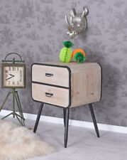 Night Console Vintage Loft Dresser Night Table Bedside Table Container Wardrobe