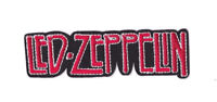 LED ZEPPELIN RED BLACK LOGO Iron on / Sew on Patch Embroidered Badge Music PT129