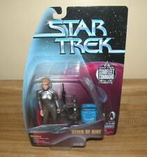 "Seven of Nine Star Trek Voyager Playmates 5"" Action Figure SF Command Silver new"