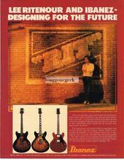 1981 IBANEZ AS100, AS200, AS50 Semi-Acoustic Guitar LEE RITENOUR Vtg Print Ad
