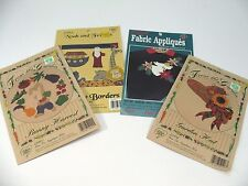 New listing Lot of 4 Iron On Applique Kits Bunny Harvest Garden Hat Noah & Friends Angel