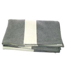 Authentic HERMES Vintage H Logos Blanket Towel Gray White NR09945