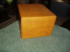 """1965 ARTIST PETERS WOOD PRODUCTS DOVETAILED WOOD FILE BOX 10"""" X 9"""" X 6.5"""" VG !"""