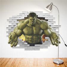 3D hulk smash wall art decal avengers Removable for kids bedroom decor sticker