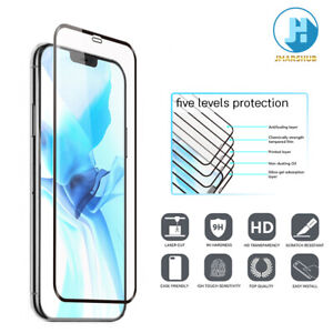 For IPhone 12 Mini/Pro/Max Full Coverage HD Tempered Glass Protector 5G 2px