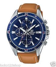 EFR-546L-2A Blue Casio Uhren Edifice Analog Lederband 100m Neues Modell