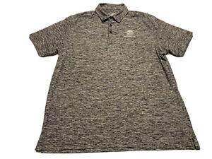 Banyan Cay Golf Under Armour UA Loose Heat Gear Black Gray Polo Shirt Size XL A1