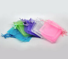 100Pcs 7x9 Mixed Organza Bags Wedding Party Gift Bags Jewlery Pouches