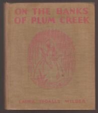 RARE VG 1937 HC First ED Printing On the Banks of Plum Creek Laura Wilder Sewell