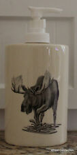 Moose Lotion Dispenser Log Cabin  Decor ETC. Ceramic Bathroom Decoration