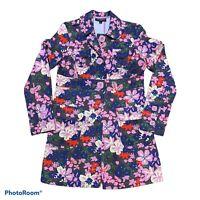 Tara Jarmon for Target Women's Trench Coat Jacket Large Floral EUC