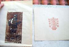1920 LOTTO DI DUE XILOGRAFIE ARCHIVIO FRANCESCO NONNI VENDITORE DI PIEDINA (?)