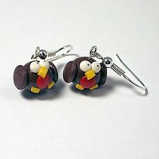 cute christmas robin earrings drops handmade stocking filler winter
