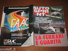 AUTOSPRINT 1986/37=GP F.1 MONZA=NELSON PIQUET=RALLY 1000 LAGHI=MAURO NESTI=