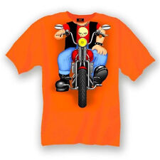 Baby Biker Body T-Shirt - Orange - Infant - Motorcycle 18 Months