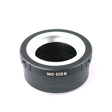 M42 Screw Mount Lens to CANON EOS M Mirrorless Camera Mount Adapter Ring -AU