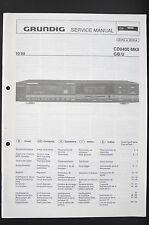 Grundig CD8400 Mkii Originale Lettore CD Manuale di Servizio/Schema Elettrico/