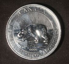 2013 - 1.5 OZT .9999 SILVER CANADA $8 POLAR BEAR COIN     LOT 290229