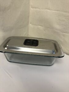 Phillips Hostess Trolley Replacement Glass Dish with Stainless Steel Lid #43