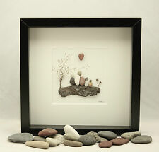 Pebble art Family of five