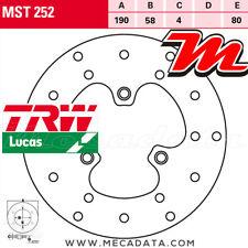 Disque de frein Avant TRW Lucas MST 252 Sachs 50 Splinter (FE053-DE) 1994+