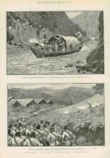 1890-Antiguo impresión Birmania Chin Lushai expedición lalshima dhalishwar (204)