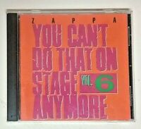 Frank Zappa 1992 Rykodisc Import 2CDs You Can't Do That On Stage Anymore Vol. 6