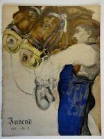 Man and Horses Jugend Magazine 1905 Issue 25 Jugenstil Art Nouveau graphics