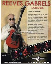 2010 REVEREND  Electric Guitars REEVES GABRELS Signature Vtg Print Ad