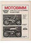 Pubblicità 1971 MOTO MOTOBIMM MOTOR CYCLE MONTEMURLO advertising werbung reklame