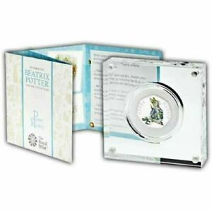 Peter Rabbit Silver Proof 50p Coloured Coin 2018 in Royal Mint Box